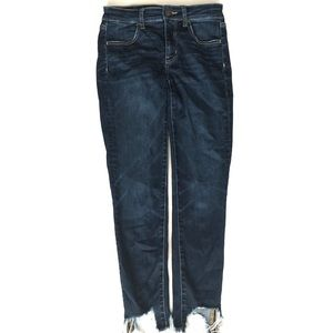 American Eagle jeans // frayed ends